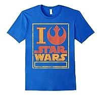 S Rebel Alliance Love Shirts Royal Blue