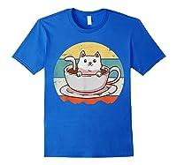 Coffee Cats Retro Vintage Gift T-shirt Royal Blue