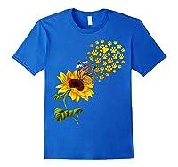 Dog Paw Sunflower You Are My Sunshine T-shirt Royal Blue