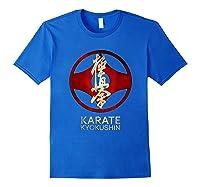 Karate Kyokushin T-shirt Royal Blue