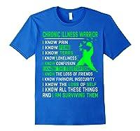 Chronic Illness Warrior For Shirts Royal Blue