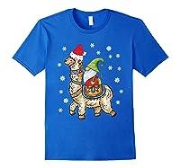 Santa Hat Christmas - Santa Gnome T-shirt Royal Blue