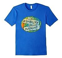 60s 70s Retro Flower Power Haight Ashbury Street Signs 1 Shirts Royal Blue
