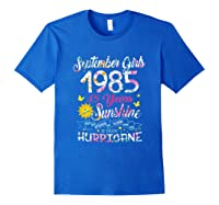 September Girls 1985 35th Years Old Awesome Since 1985 Shirts Royal Blue