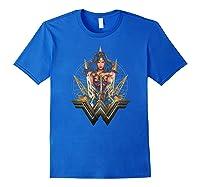 Wonder Woman Movie Wonder Blades T-shirt Royal Blue