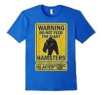 Funny Glacier National Park Grizzly Brown Bear Souvenir Gift Shirts Royal Blue