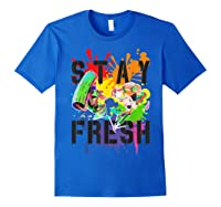 Splatoon Pride Stay Fresh Rainbow Paint Splat Shirts Royal Blue