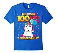 Unicorn Happy 100 Days School Kindergarten Girls Gift Shirts Royal Blue
