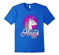 Free Mom Hugs Rainbow Lgbt Pride Unicorn T-shirt Gift Royal Blue