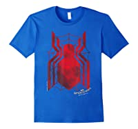 Marvel Spider-man Homecoming Grungy Ink Logo T-shirt C1 Royal Blue