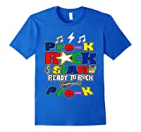 Rockstar Ready To Rock Pre-k Back To School Preschool Gift T-shirt Royal Blue