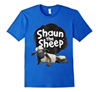Shaun The Sheep Alt Logo With Shaun Shirts Royal Blue