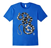 Snake Reptile Boas Herpetology Illustration Shirts Royal Blue
