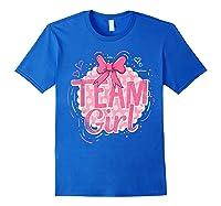 Team Girl Gender Reveal Party Pregancy T-shirt Royal Blue