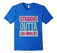 Straight Outta Los Angeles Basketball Shirts Royal Blue