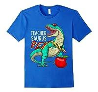 Teasaurus Rex - Funny Dinosaur Tea Appreciation Gift T-shirt Royal Blue