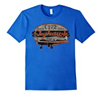 C-172 Skyhawk Vintage Retro C172 Airplane Flying Pilot T-shirt Royal Blue