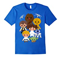 S Cute Kawaii Style Heroes Graphic C1 Shirts Royal Blue
