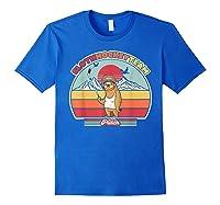Sloth Hockey Team Shirt. Retro Style T-shirt Royal Blue