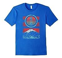 Bushido Kanji Japan Samurai Spirit Retro 80s Style Gift Shirts Royal Blue