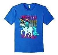 Halloween Unicorn Pride Colors Shirts Royal Blue