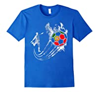 Portugal Soccer Team T-shirt For Fans And Players Royal Blue