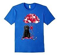 Black Labrador Love Balloons Valentine Day Shirts Royal Blue