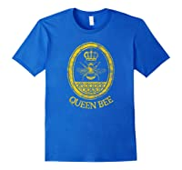Queen Bee Vintage Beekeeper Mom Mother's Day Wife Gift Shirts Royal Blue