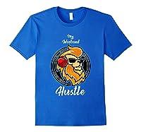 My Weekend Hustle Dj T-shirt T-shirt Royal Blue