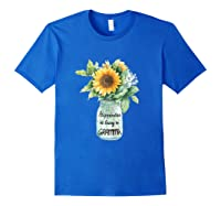 Happiness Is Being A Gramma Gift For Grandma Shirts Royal Blue