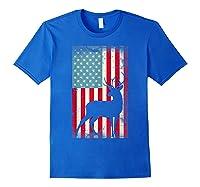 American Flag Deer Hunter, Patriotic Gift Idea For T-shirt Royal Blue