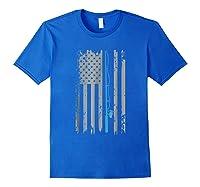 American Flag Fishing Vintage Fishing Shirts Royal Blue