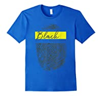 Equality Social Justice Fingerprint Black Empowert Shirts Royal Blue