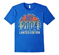 July 2004 Limited Edition 16th Birthday 16 Year Old Gift Shirts Royal Blue