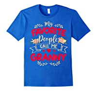 My Favorite People Call Me Granny Mothers Day Gift Shirts Royal Blue