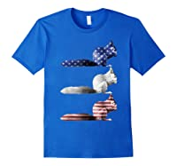American Flag Squirrel Usa 4th Of July Squirrel Lovers Gift Shirts Royal Blue