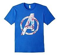 Avengers Logo Floral Super Hero Shirts Royal Blue