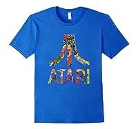 Atari Montage Logo Arms Shirts Royal Blue