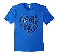 Auburn Tigers Tiger Heart - Orange Shirt T-shirt - Apparel Royal Blue