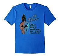 The Raven, Edgar Poe, Fan Art T-shirts And Gifts T-shirt Royal Blue