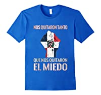 Dominican Republic Flag Fist Dominican Election 2020 Protest T-shirt Royal Blue