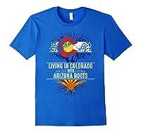 Colorado Home Arizona Roots State Tree Flag Love Gift Shirts Royal Blue