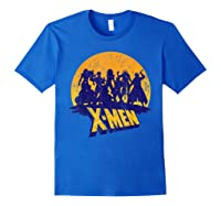Marvel X- Logo And Mutants Classic T-shirt Royal Blue