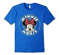 Circle Minnie Shirts Royal Blue