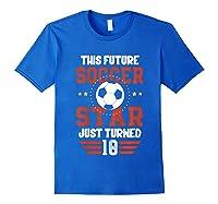 10th Birthday Soccer Birthday Boy Shirts Royal Blue