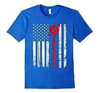 Football Shirt: Usa American Flag Sport Team Fan T-shirt Royal Blue
