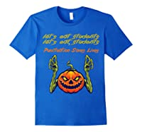 Funny Let's Eat Students Punctuation Saves Lives Tea Shirts Royal Blue