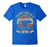 I'm A Classic Born 1979 41st Birthday Muscle Car Lover Shirts Royal Blue
