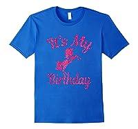 It\\\'s My 8th Birthday Girls Party 8 Pink Unicorns T-shirts T Royal Blue