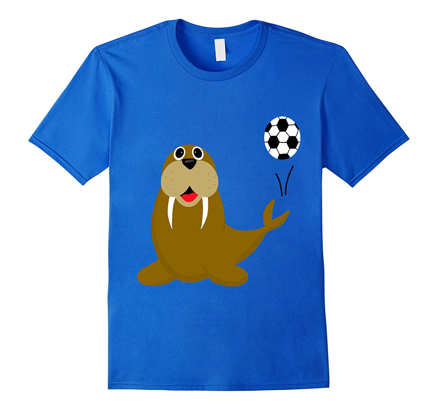 Southerndesigns Funny Walrus Playing Soccer Shirts
